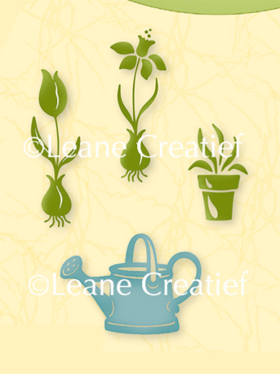 Lea'bilities Clear Stamp - Garden Flowers