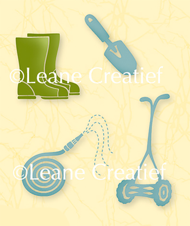 Lea'bilities Clear Stamp - Garden Tools