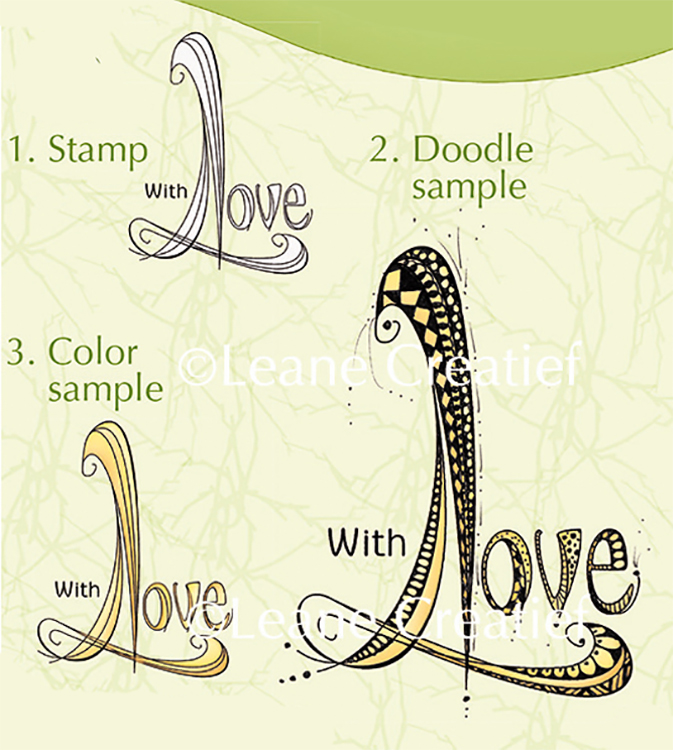 Lea'bilities Clear Stamp - Doodle Stamp - With Love