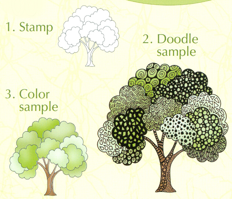 Lea'bilities Clear Stamp - Doodle Tree