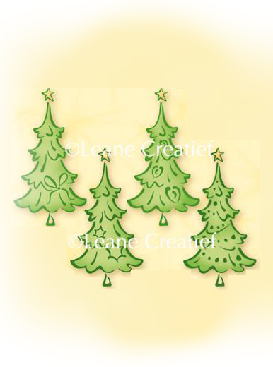 Lea'bilities Clear Stamp - Christmas trees small
