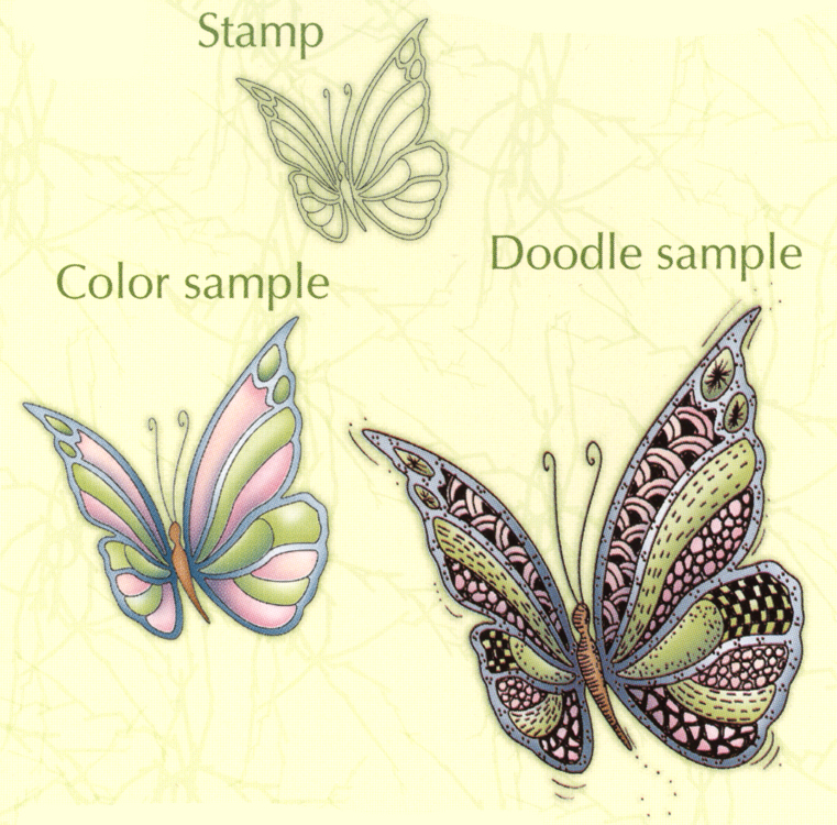 Doodle clear stamp Butterfly 2