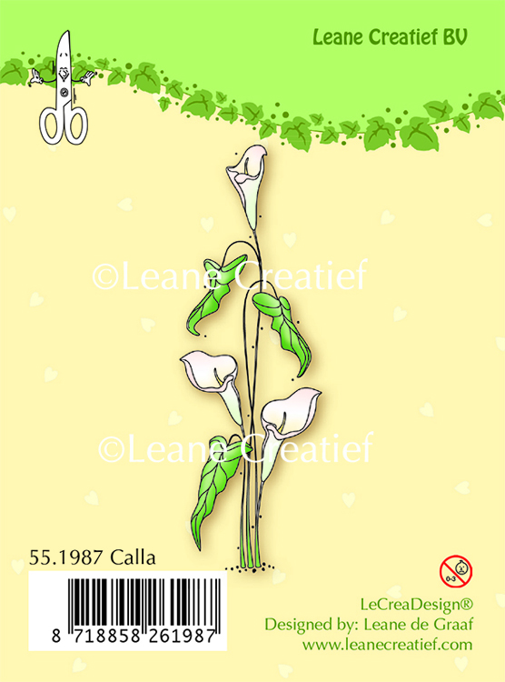 Clear stamp Calla