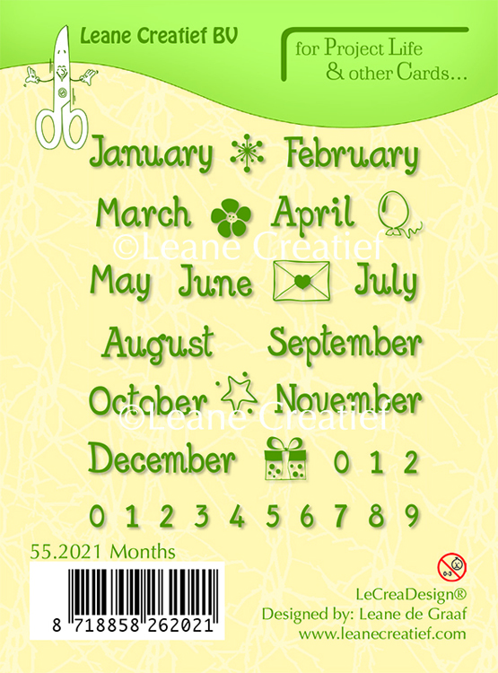 Project Life & Cards clear stamp Months