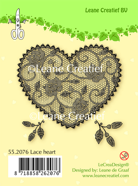 Clear stamp Lace Heart