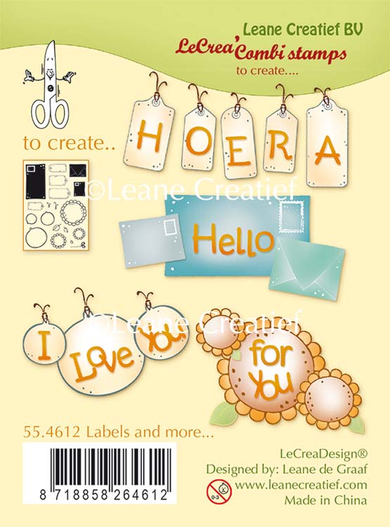 Leane Creatief Clear Stamp Labels And More