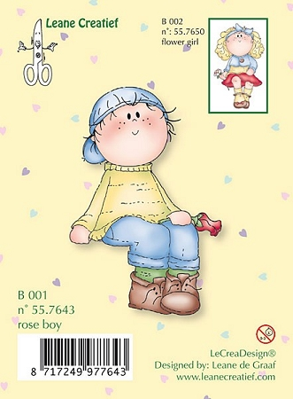 Clear Stamp - Bambini Rose Boy