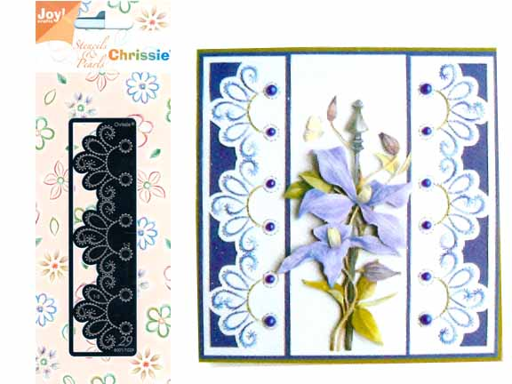 Chrissie Embroidery Stencil Decorative Border Edge