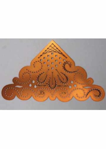 Chrissie Embroidery Stencil Decorative Corner