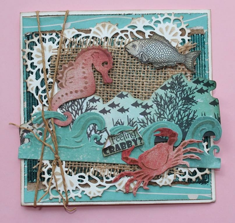 Joy! Crafts Cutting and Embossing die - crab - seahorse