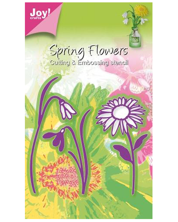 Joy! Crafts Cutting and Embossing die - 3 flowers, marguerite/2x snowdrop