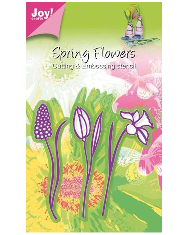 Joy! Crafts Cutting and Embossing die - 3 flowers, daffodil / tulip / hyacinth