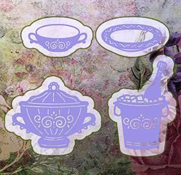 Cutting and Embossing die - wine cooler/terrine/soup Cup/Saucer