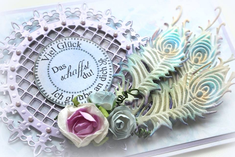 Ecstasy Crafts Cutting And Embossing Die - Feather