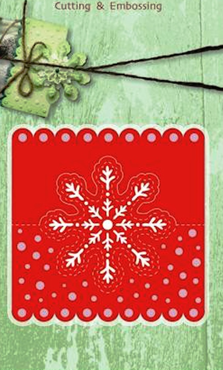 Cutting and Embossing die - Headcard snowflake
