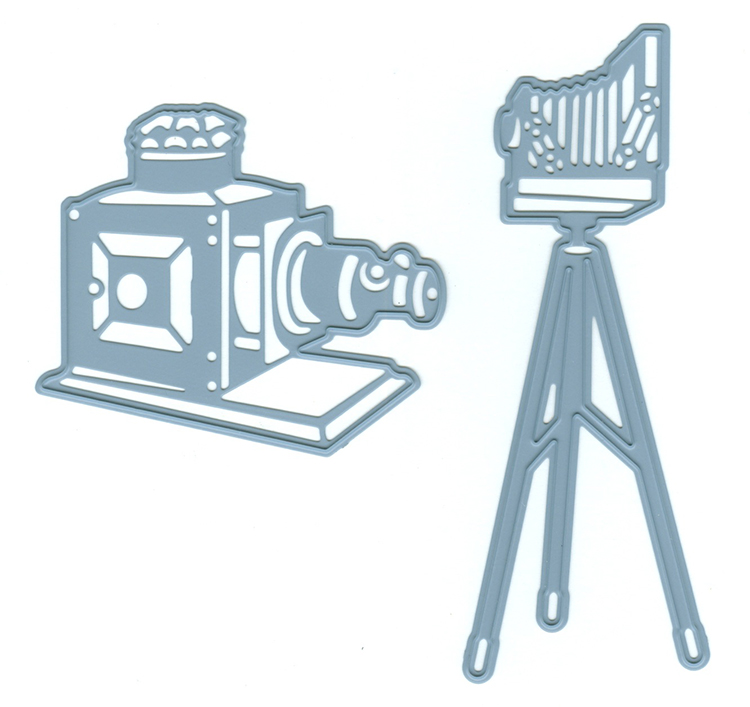 Joy! Crafts Cutting and Embossing Die (2pcs) - Magic Lantern - camera on stand/camera