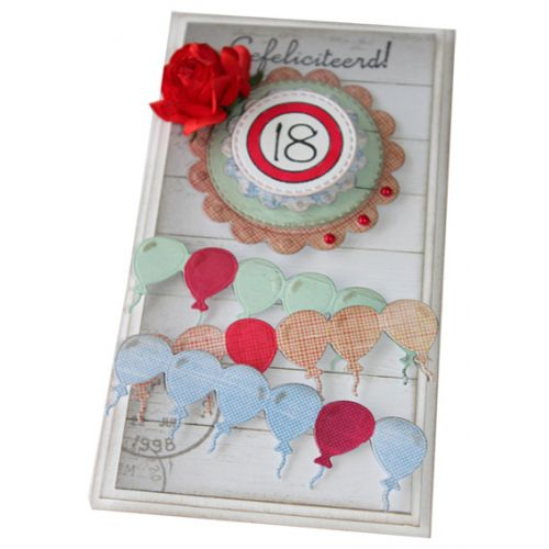 Cutting and Embossing Die Balloon Border
