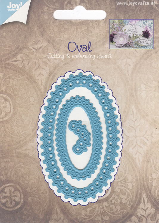 Joy! Crafts Cut & Emboss Die - Oval Elegant
