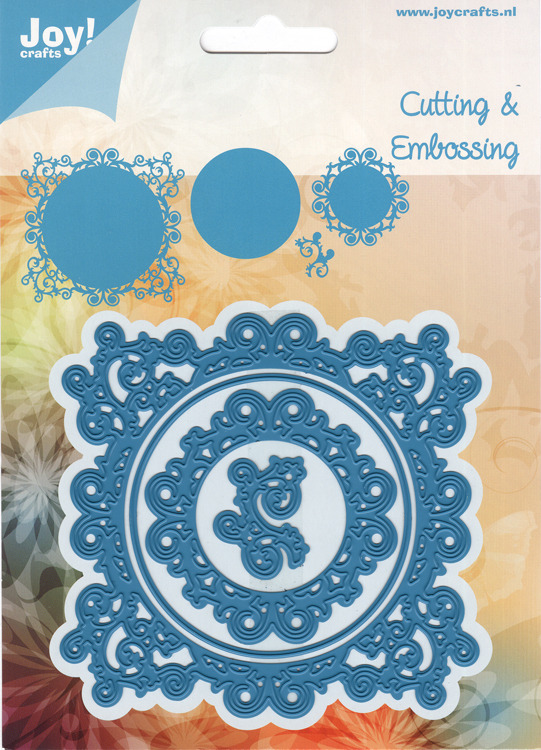 Joy! Crafts - Cut-Emboss Die Square Doily with Swirls