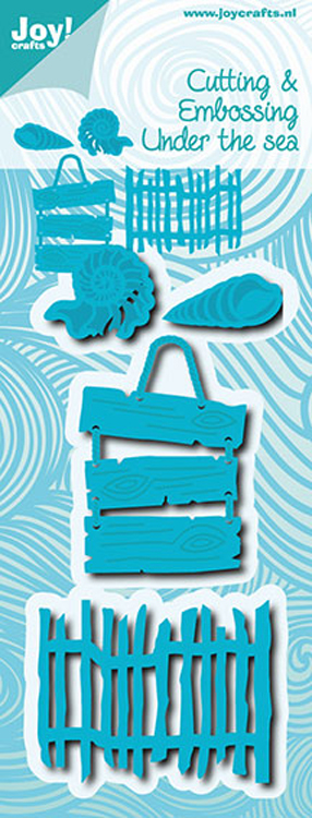 Joy Crafts Cut & Emboss Die-Under the Sea-Shells, Fence & Text Board