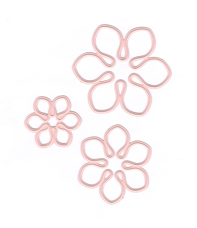 Joy Crafts Cutting Die-Flowers - 3pc