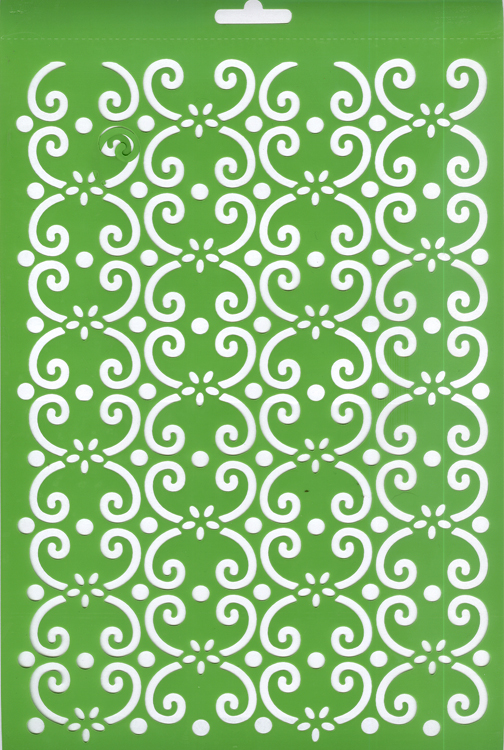 Joy! Embossing Stencil - Fantasy Curls