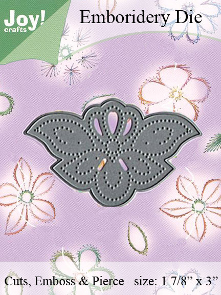 Joy! Crafts Dies - Embroidery on Paper - Corner Scalloped