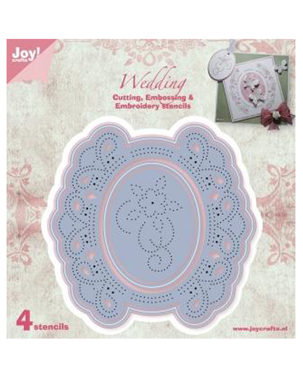 Joy! Crafts Cutting and De-bossing Embroidery Die - Circle Floral Frame