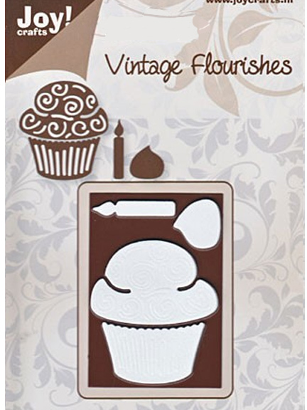 Joy! Crafts Dies - Vintage - Cupcake & Candle