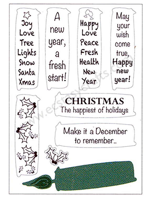 Joy! Crafts Cutting Die & Stamp - candles - Christmas