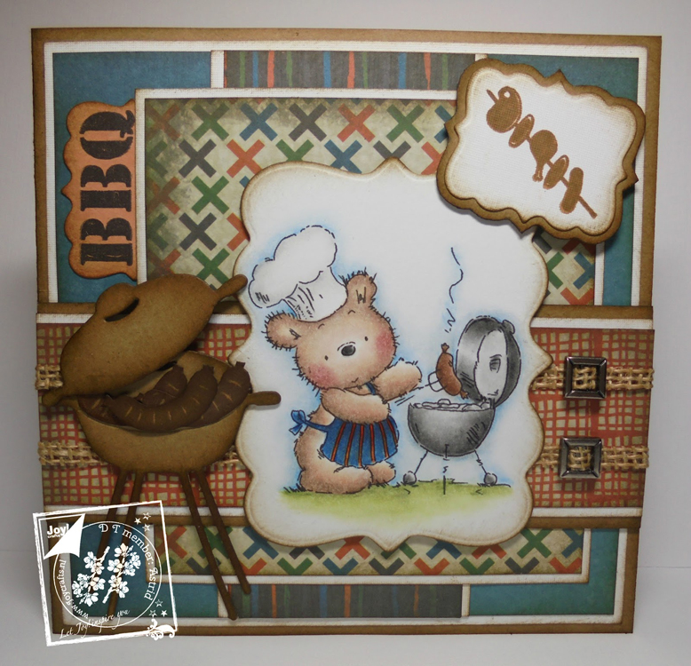 Joy! Crafts Cutting Die/Clear Stamp Set - Barbecue