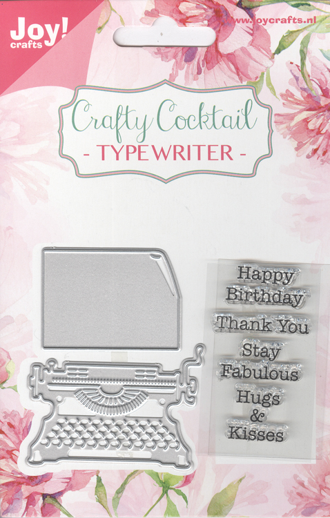 Joy! Crafts Cut-Emboss Die/Stamp - Typewriter & Text