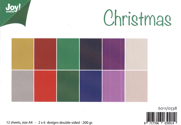 Ecstasy Crafts Joy! Craft Papers - Christmas
