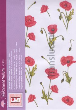 Vellum Poppy (5 sheets)