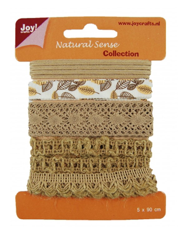 Ribbons Natural sense collection 1 - 5 different - 1 meter per