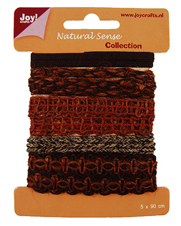 Ribbons Natural sense collection 2 - 5 different - 1 meter per