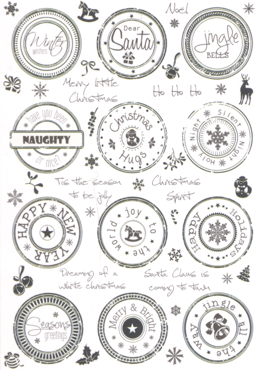 Clear Stamp Set - Happy Holidays