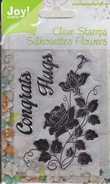 Clear Stamp - Rose Congrats