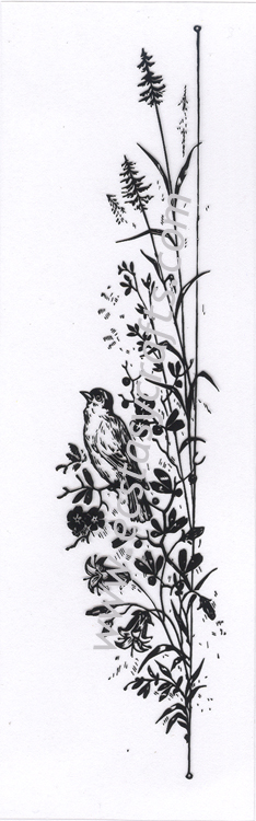 Clear stamp - Flower With Bird