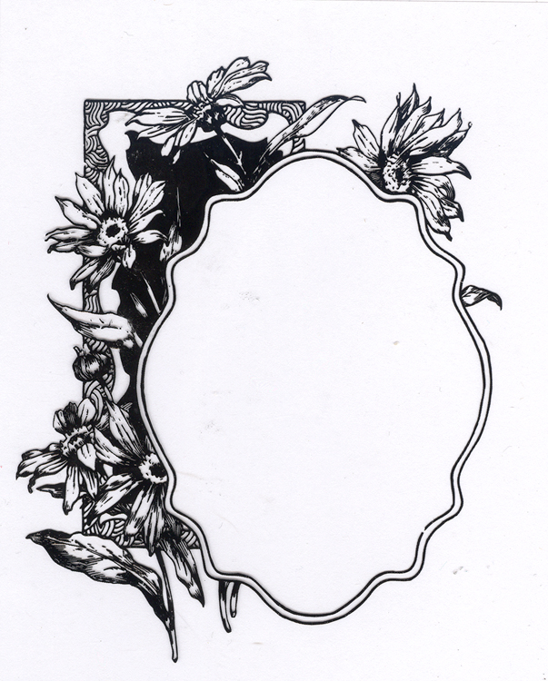 Clear Stamp Flower with Frame