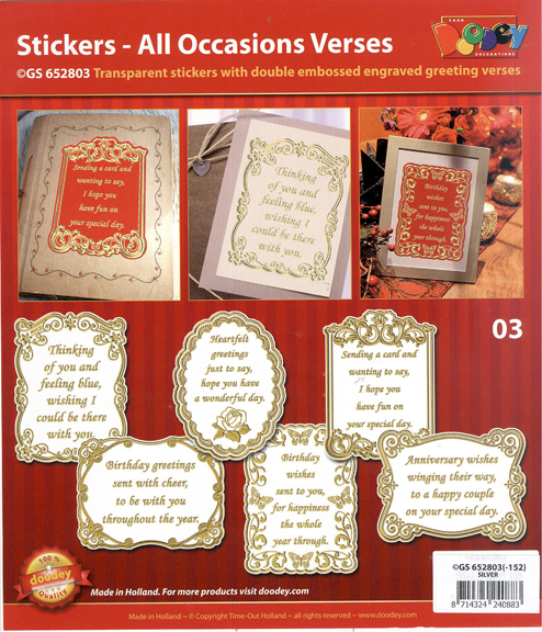 All Occasions Verses - Transparent Gold/Silver
