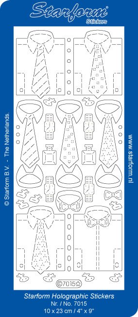 Deco Stickers - Shirts & Ties