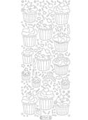 Deco Stickers - Cupcakes