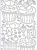 Deco Stickers - Lg 3D Cupcakes