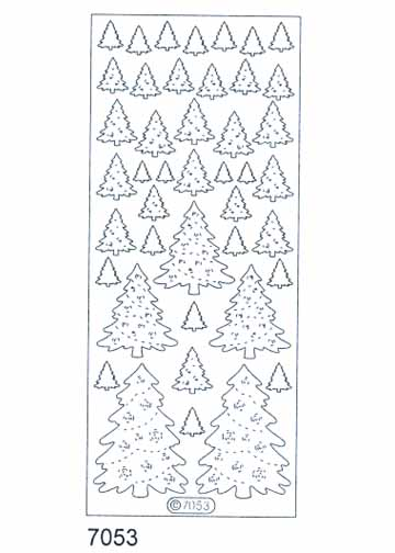 Deco Stickers - Christmas Trees