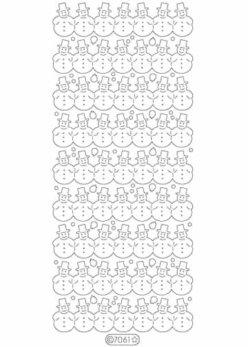 Deco Stickers - Snowman Borders