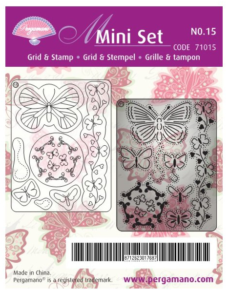 Multi Set Grid and Stamp - Butterflies