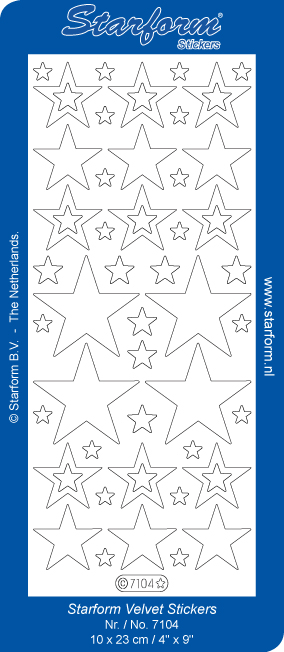 Deco Stickers - White Velvet Stars