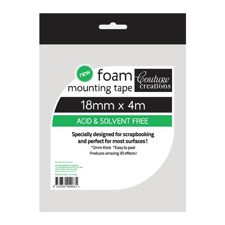 Couture Creations Foam Mounting Tape 18mm x 4m
