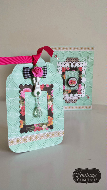 Couture Creations Dies - Picture Frame & Tag